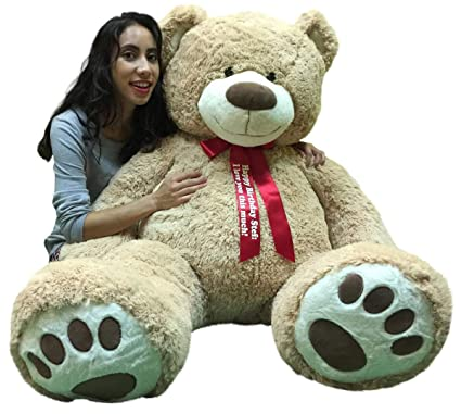 06dc2d55a107 Big Plush Giant Teddy Bear 5 Feet Tall - Custom Personalized Your Name or  Message Imprinted