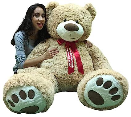 8b04ebd92db Big Plush Giant Teddy Bear 5 Feet Tall - Custom Personalized Your Name or  Message Imprinted