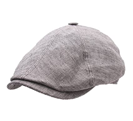 Stetson Brooklin Linen Flat Cap at Amazon Men s Clothing store  c52c84de14b