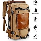 ibagbar Hiking backpack Canvas Backpack Laptop Backpack Rucksacks Large Suitcase Duffle Bag Camping Rucksack Travel Backpack