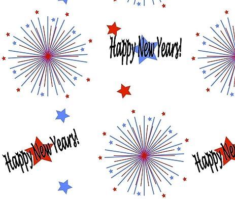 Amazon.com: New Year Fabric Happy New Years - Big by Mlc13 Printed ...
