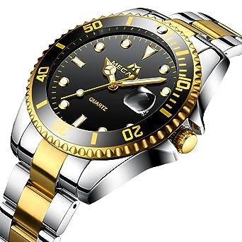 Berühmt Herren Uhren Edelstahl Männer 30M Wasserdicht Luxus Design Datum #GN_15