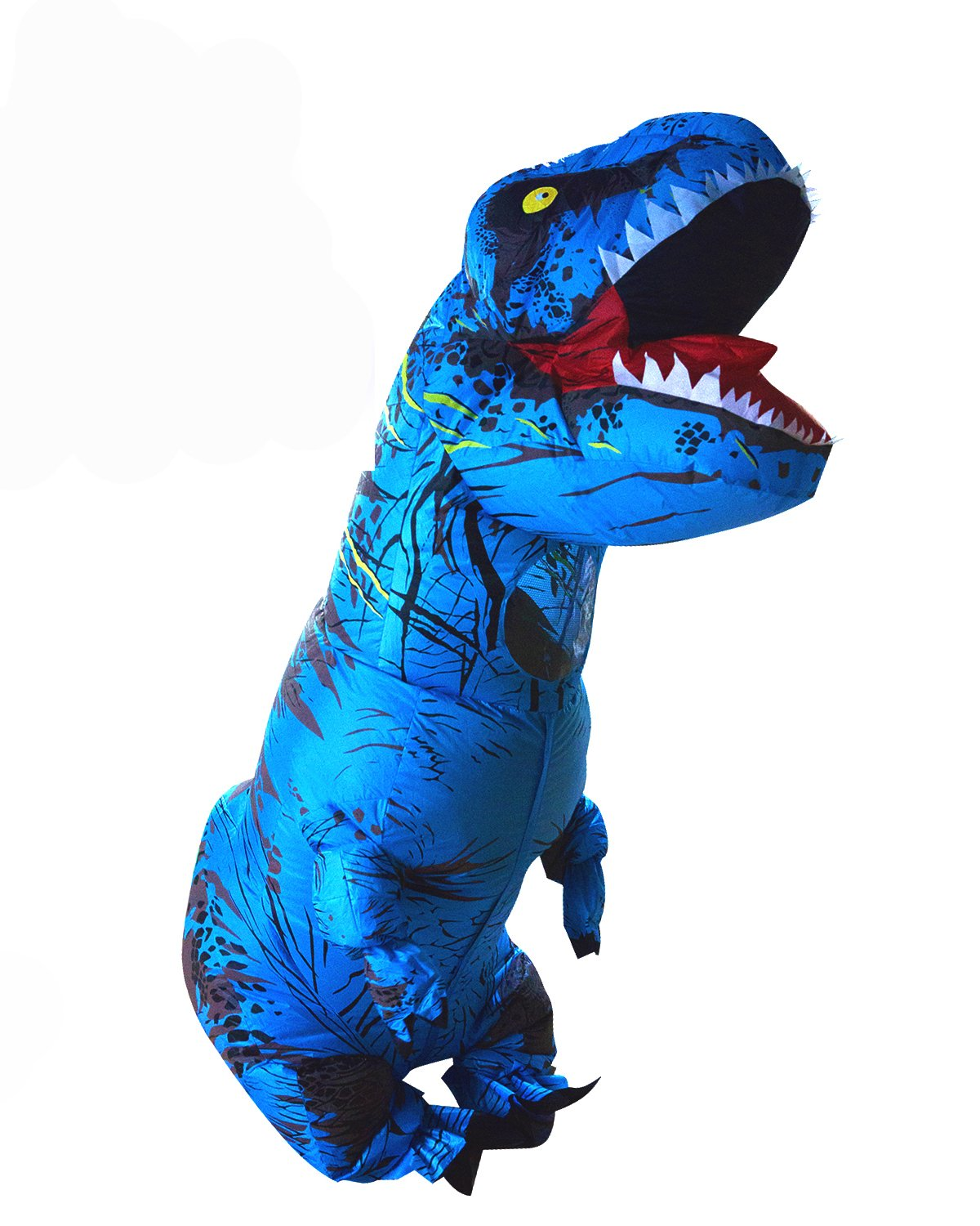 Adult Inflatable T-rex Costume Dinosaur Halloween Suit Cosplay Fantasy Costumes Blue
