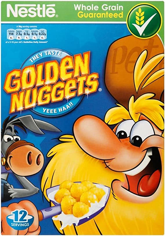 Nestlé - Golden Nuggets - Cereales con miel - Caja de 375 g - Pack de 2 unidades: Amazon.es: Alimentación y bebidas