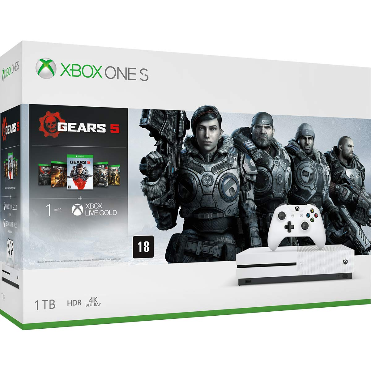 Microsoft Xbox One S 1TB Console - Gears 5 Bundle product image
