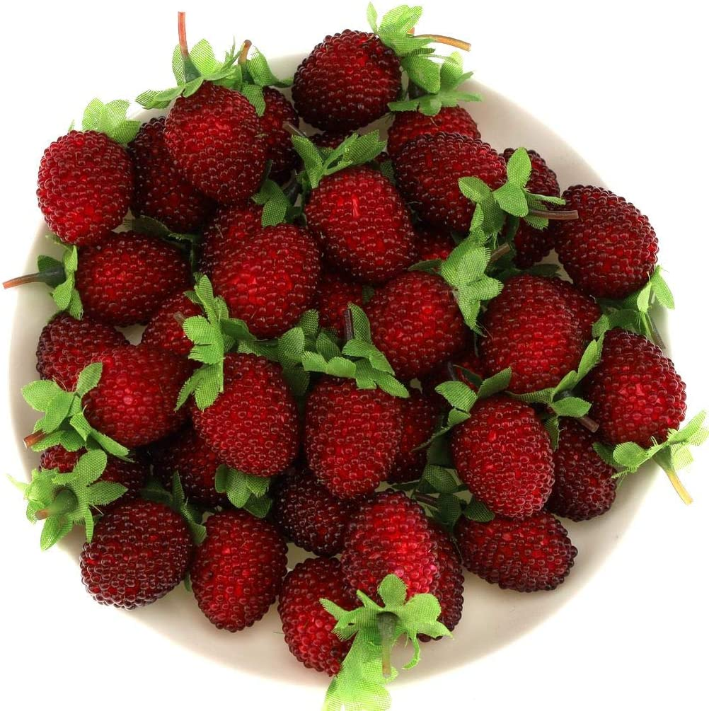 Gresorth 30pcs Artificial Raspberry Fake Fruit Decoration Home House Kitchen Cabinet Food Model