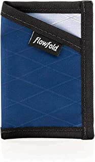 product image for Flowfold Minimalist Card Holder Durable Slim Front Pocket Wallet, Card Holder Wallet Made in USA (Navy Blue)