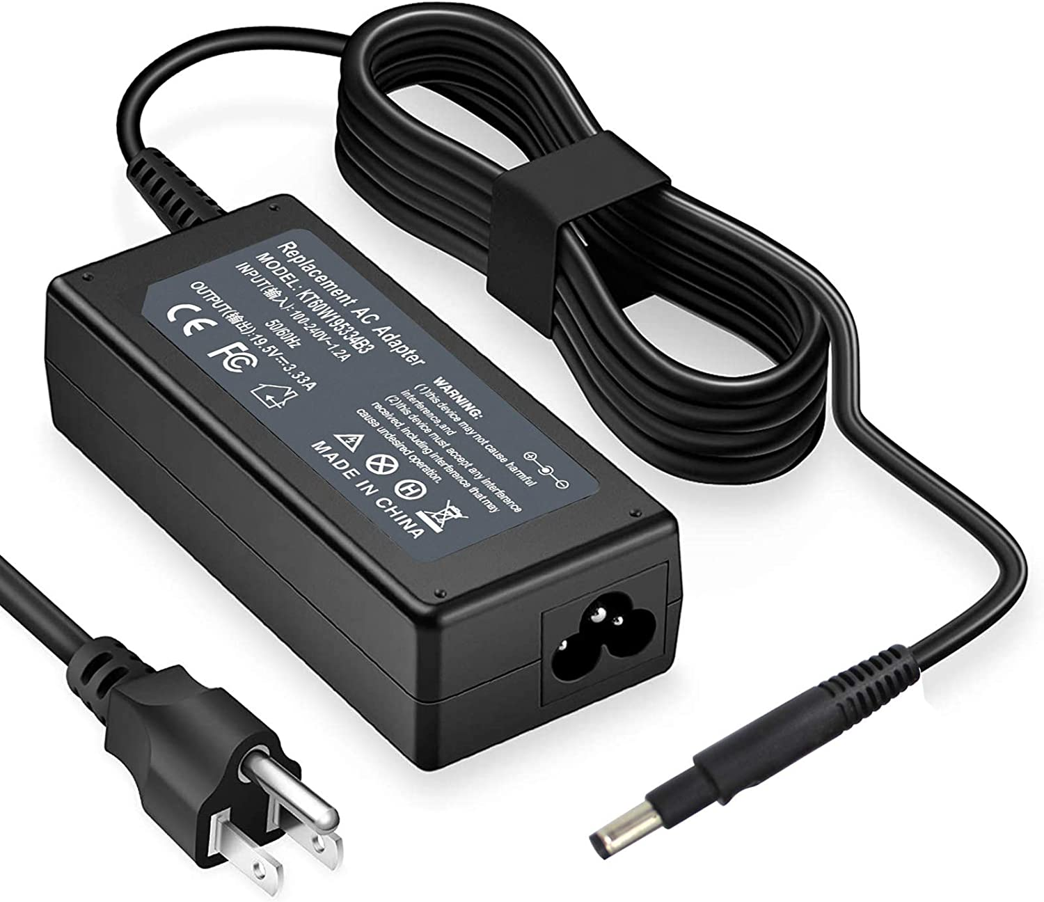 65W Ac Adapter Charger Comapatible with HP Pavilion Touchsmart 14-b000 15-b000 15-B129WM 15-B143CL 15-b153CL 15-B119WM 14-B109WM 14-B120DX 14-B124US 677770-001 67770-002 PPP009D Envy 4 6