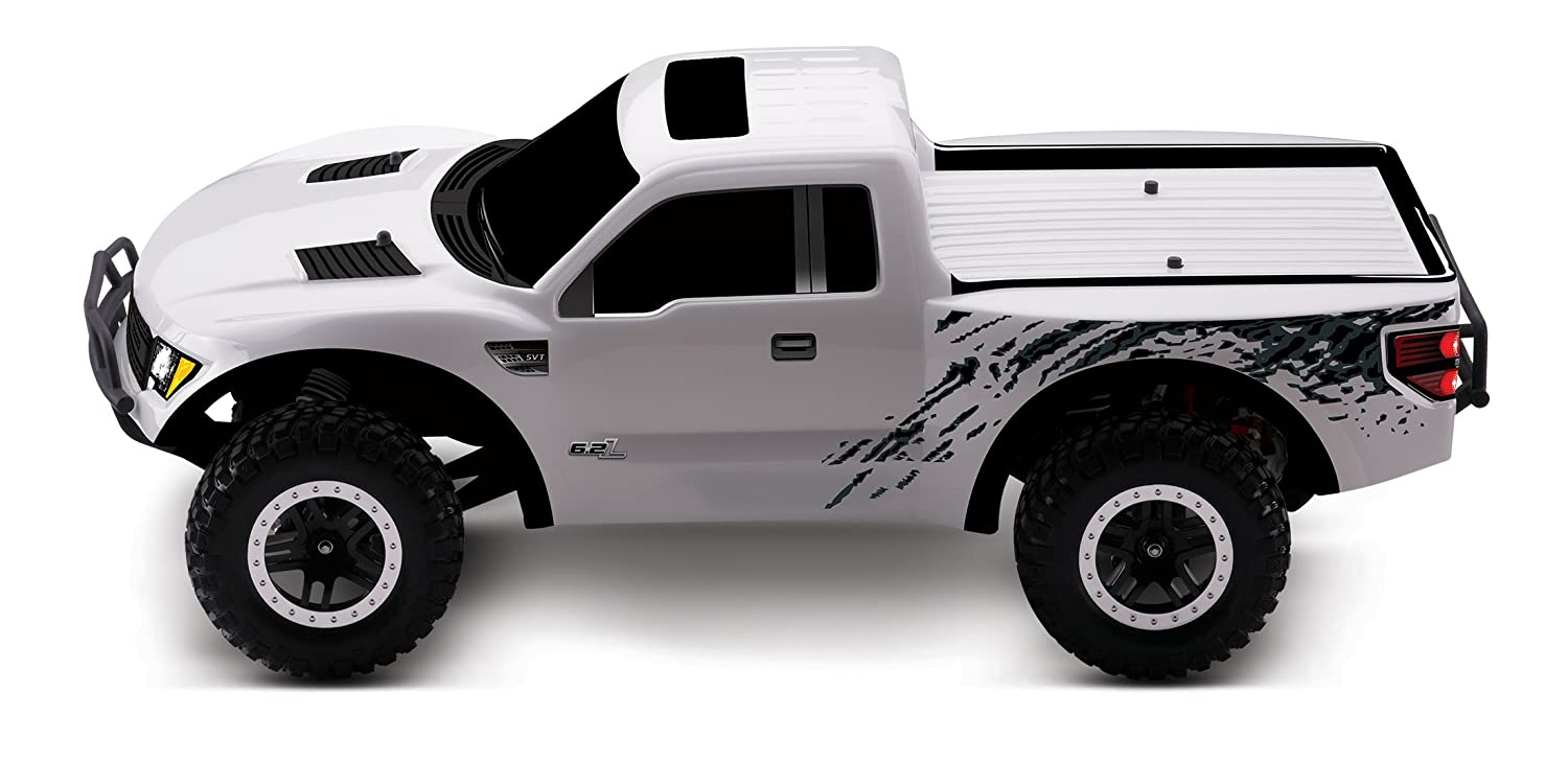 Amazon com traxxas ford raptor 1 10 scale ford raptor with tq 2 4ghz radio system white toys games