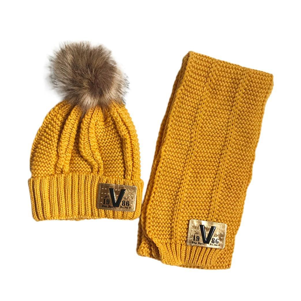 Pañuelos de bebé BBsmile 2pcs bebé lindo invierno niños bebé Los sombreros mantienen el conjunto caliente Sombrero lindo bufanda