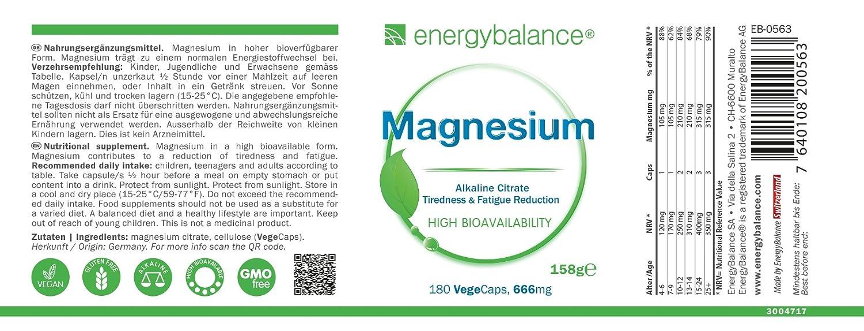 Citrato de magnesio 105mg | 100% puro Sin aditivos | Alta ...