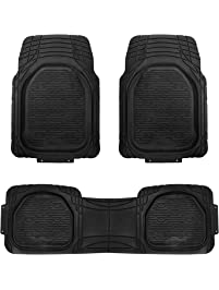 FH Group F11323BLACK Floor Mat (Supreme Rubber Trimmable for Cars, SUVs, and Trucks), 1 Pack