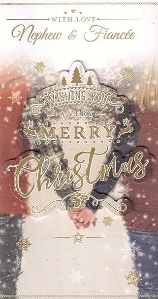 Neffen & Fiancee Weihnachtskarte – \'mit Liebe, Neffe und Braut ...