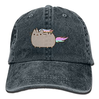 23928f63d1a Pusheen Adult Hats Unisex Fashion Plain Cool Adjustable Denim Jeans  Baseball Cap Cowboy  Amazon.co.uk  Clothing
