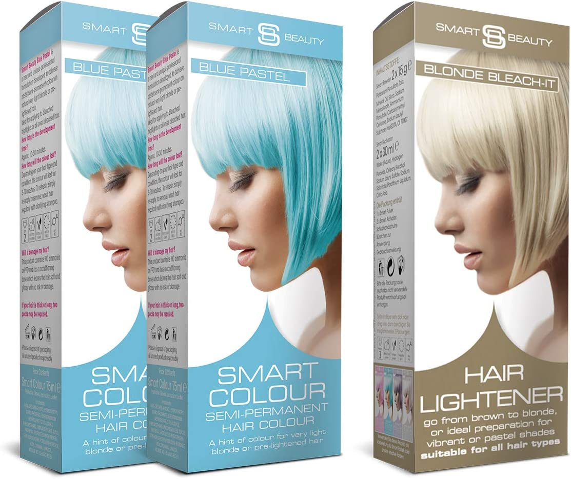 Tinte para cabello Smart Pastel Bleach-it y Baby Blue: Amazon ...