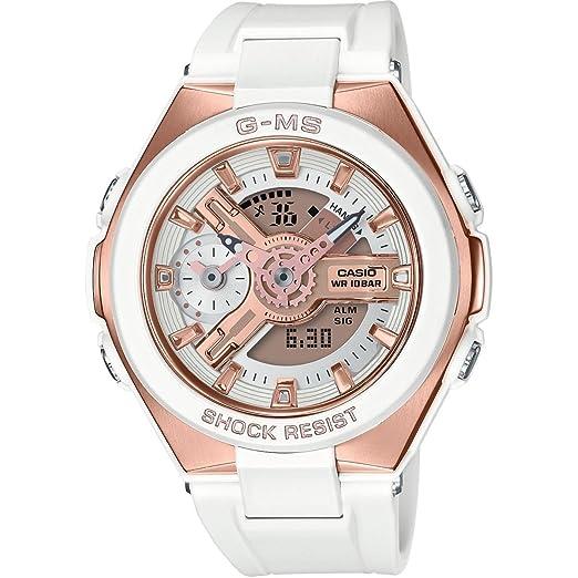 Casio Reloj Analógico-Digital para Mujer de Cuarzo con Correa en Plástico MSG-400G-7AER: Amazon.es: Relojes