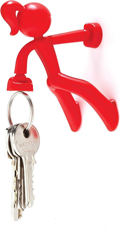 Rosso Anello Portachiavi Monkey Business Key Petite 7,5 x 6 x 8,1 cm