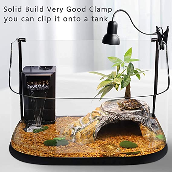 DADYPET Tortoise Heat Lamp for Aquarium Reptile Basking Spot with Holder UVA