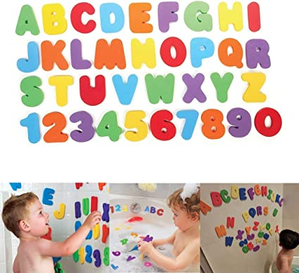 Foam Numbers And Letters Set Educational Bathtub Game For Kids
