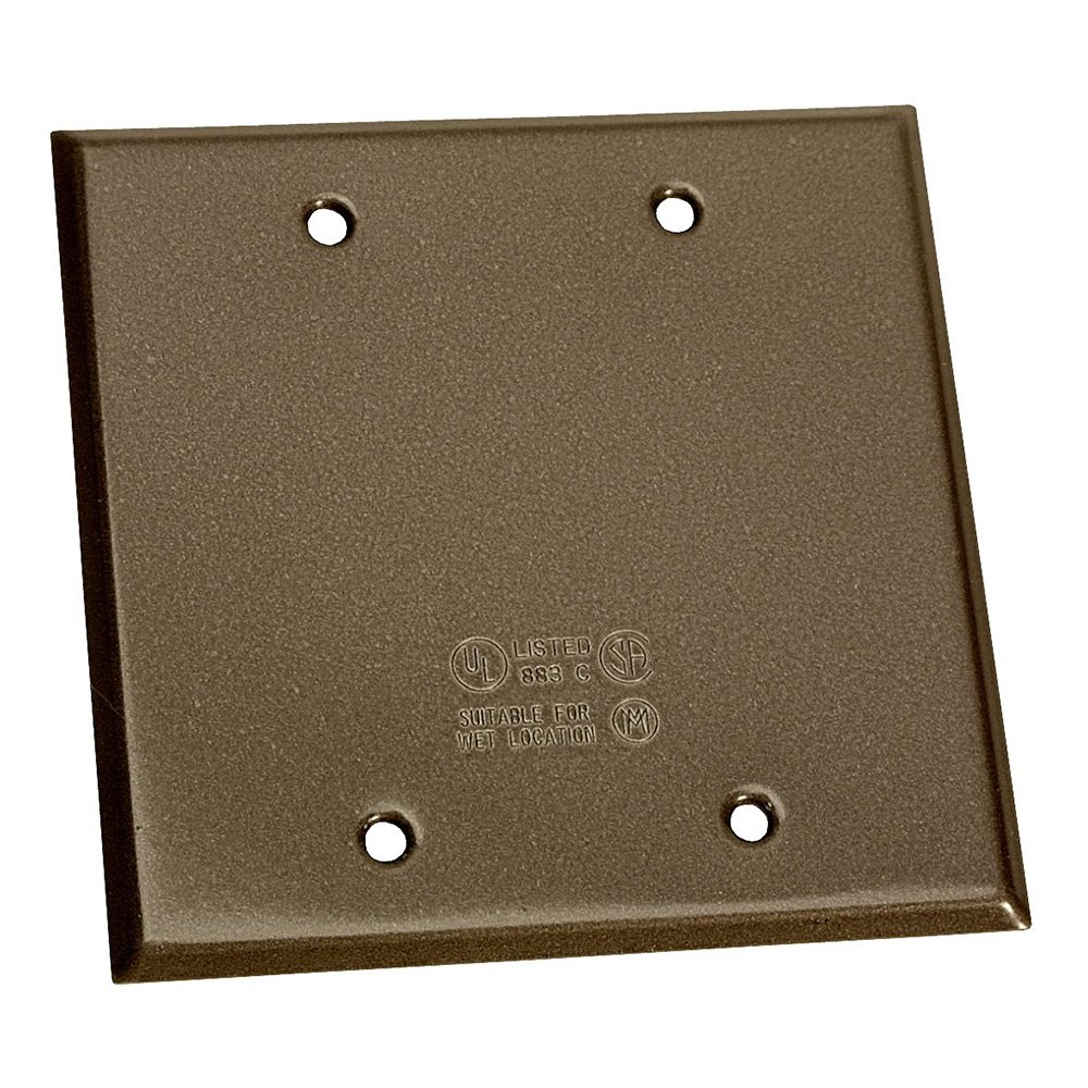 Sigma Electric 14340BR 2-Gang Rectangular Stamped Cover,  Bronze