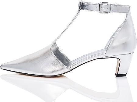 Marca Amazon - find. Zapatos T-bar de Tacón Mujer