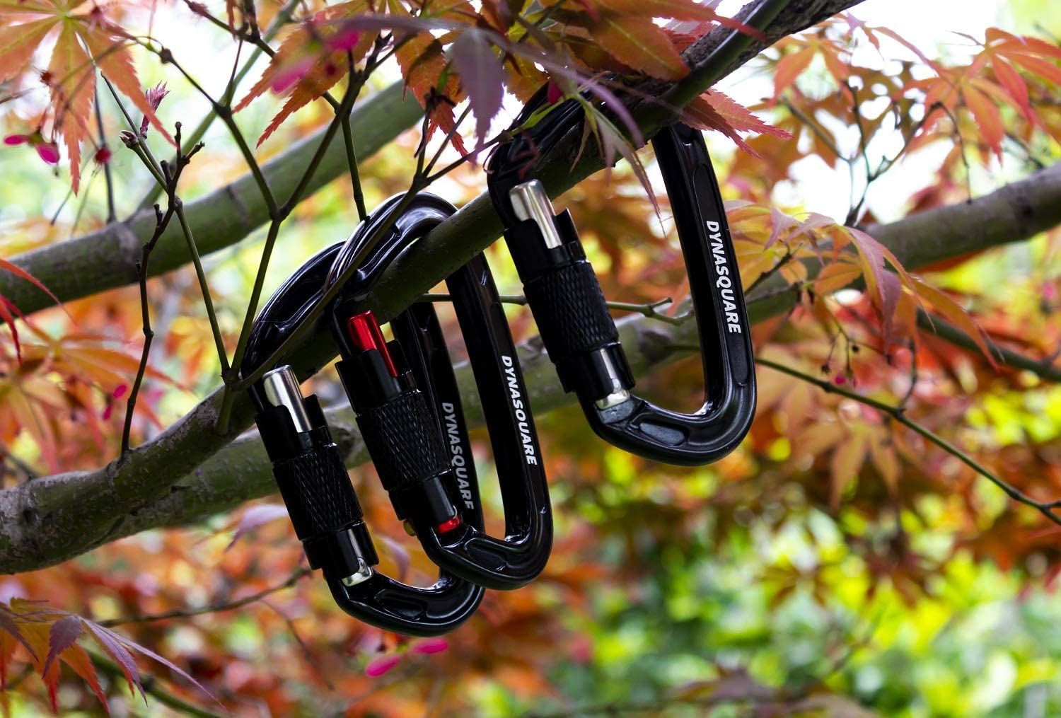 5400 lbs DYNASQUARE Auto Locking Carabiner Clips Great for Climbing 3 Pack Rock Climbing Carabiner Twist Lock Mountaineer Camping Hammock 24KN Outdoor Equipment