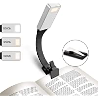 GeeRic Reading Light USB Book Light Rechargeable Clip On USB Lamp 50 Lumens 3 Brightness Levels Reading Lamp for iPad/Amazon Kindle/eBook Reader and Books