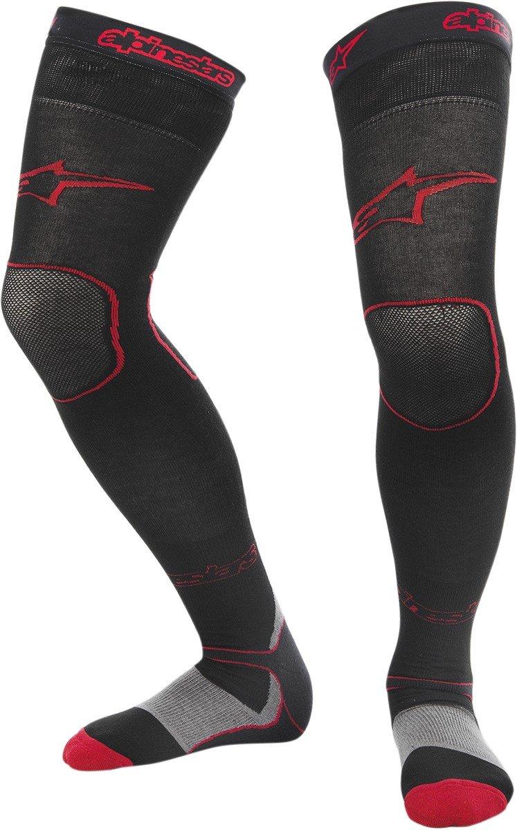 Alpinestars Long Tech MX socks Small//Medium//Red//Black