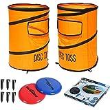 Win SPORTS Folding Disc Toss Game Set - Flying Disc Toss Dunk Game Set - Includes 2 Disc Targets with Bean Bag & 2 Flying Dis