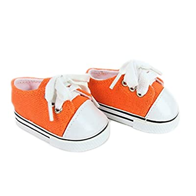 "American Fashion World Orange Sneakers -18"" Dolls: Toys & Games"