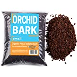 """Organic Orchid Bark - Small (3/8"""") - 1 Gallon of Long Lasting New Zealand Pine Bark for Better Aeration and Flowering for pha"""