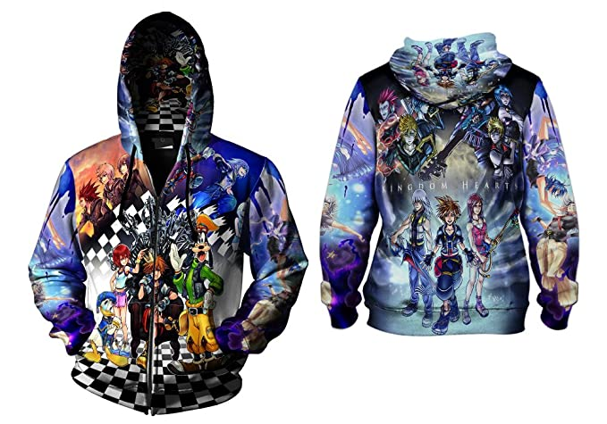 Kingdom Hearts Mens TOP T-Shirt Disney Video Game Custom Fullprint Sublimation sizes: S to 3XL
