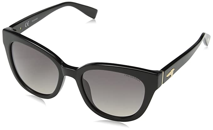 Trussardi Str017 Gafas de Sol, Beige (Shiny Black), Talla ...