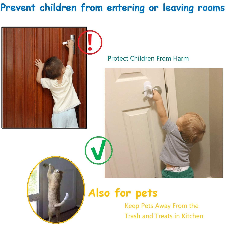 Comfy mee Door Lever Lock For Kids,Child Safety Proof Handle Door Lock Pack of 2