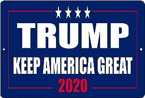 Rogue River Tactical Donald Trump Blue Metal Tin Sign Wall Decor Man Cave Bar Keep America Great