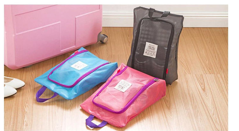 Portable Travel Shoes Storage Bag Large Luggage Clothing Organizer by Superjune Pink