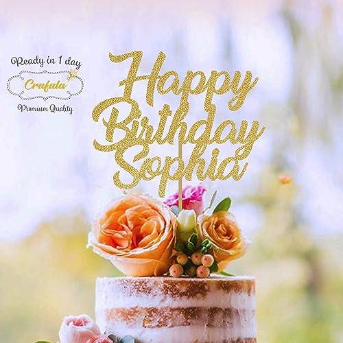 Amazon Happy Birthday Cake Topper Custom