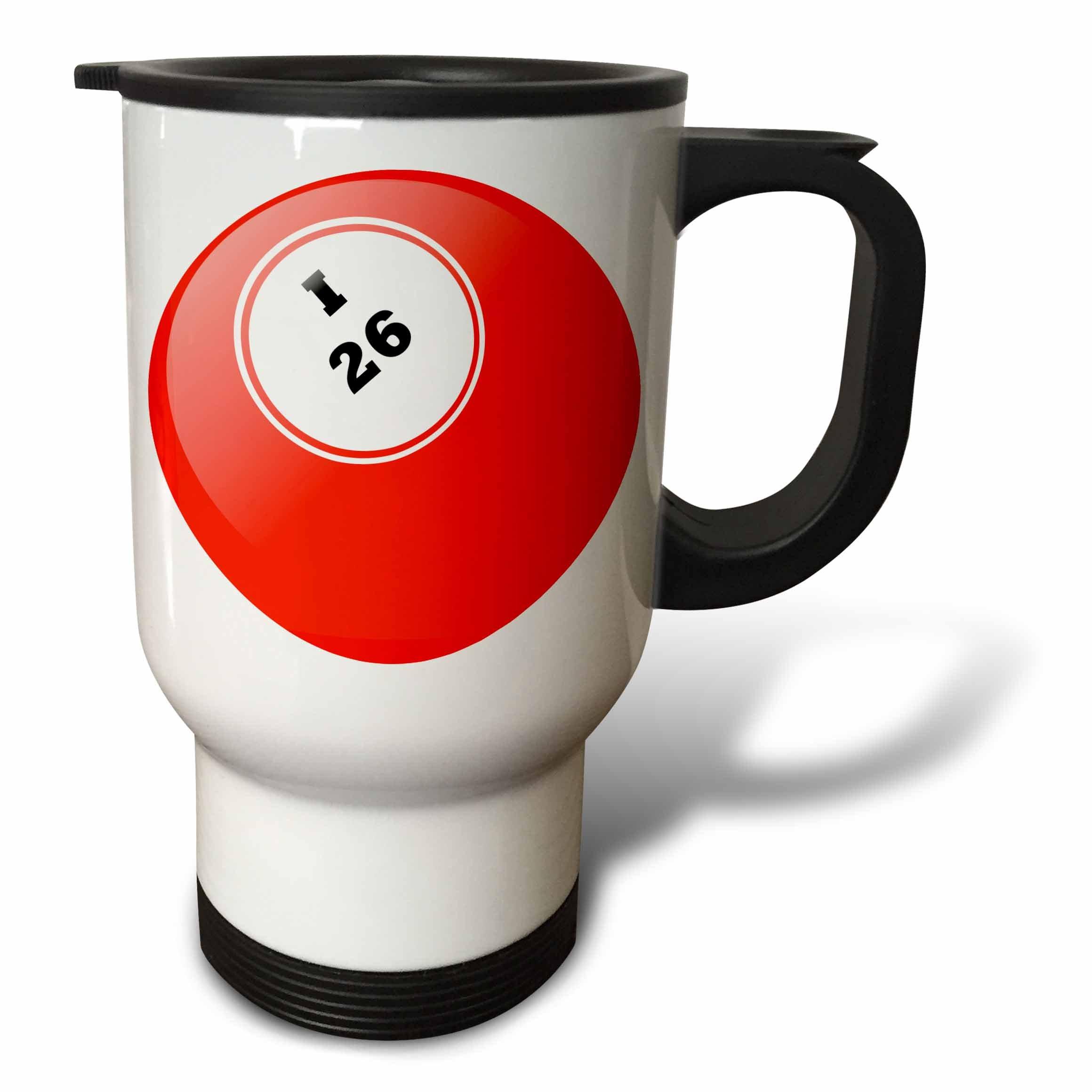 3dRose tm_50294_1 Bingo I 26 Travel Mug, 14-Ounce, Stainless Steel by 3dRose