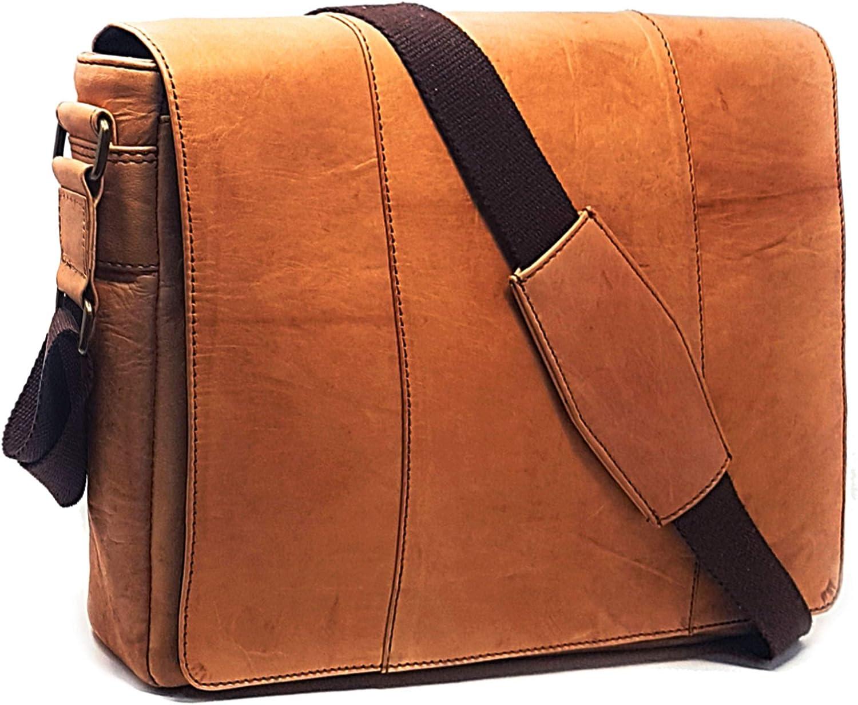 Laptop Messenger and Shoulder Bag - Leather Crossbody Office Bag - Unisex