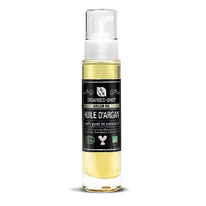 Aceite de Argán Bio Certificado Ecocert USDA 100% Pure y Natural préssée Cortafríos sin sulfato
