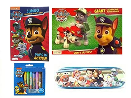 Amazon Com Nickelodeon Paw Patrol Giant Coloring Book Jumbo