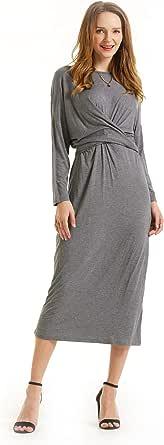 SONJA BETRO Women's Knit Tie Front Midi Dress Plus Size