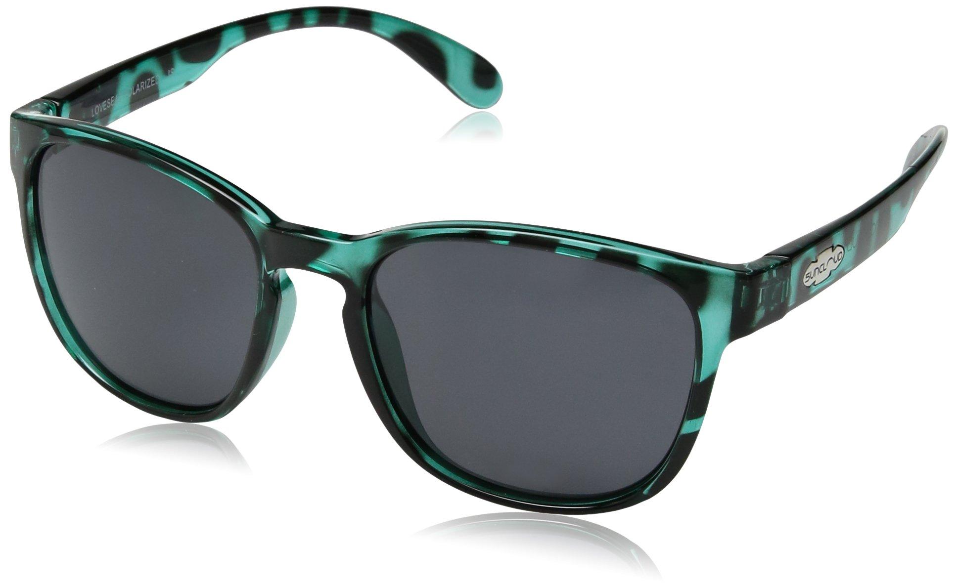 Suncloud Loveseat Polarized Sunglasses, Petrol Tortoise, Gray