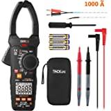 Digital Clamp Meter, 6000 Counts Tacklife CM04 Clamp Multimeter, AC Amp Meter 1000A, AC/DC Voltage Tester, Temperature Sensor, NCV VFD, Frequency, Duty Cycle, Resistance, Capacitance, Wire ON/OFF Test