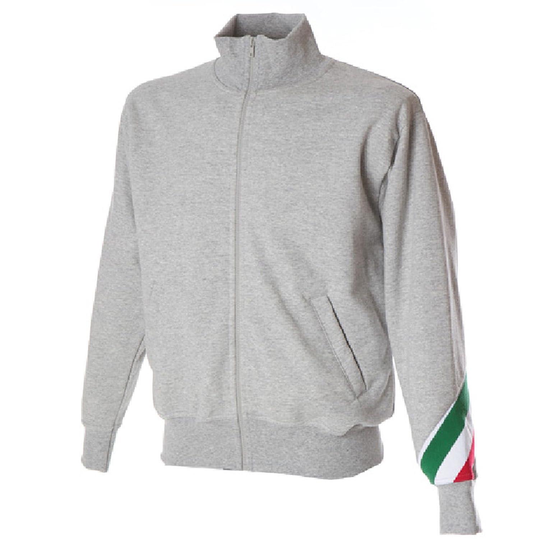 CHEMAGLIETTE Felpa da Lavoro Uomo Maglia Felpata Cotone Collo Alto con Zip Intera JRC Pesaro