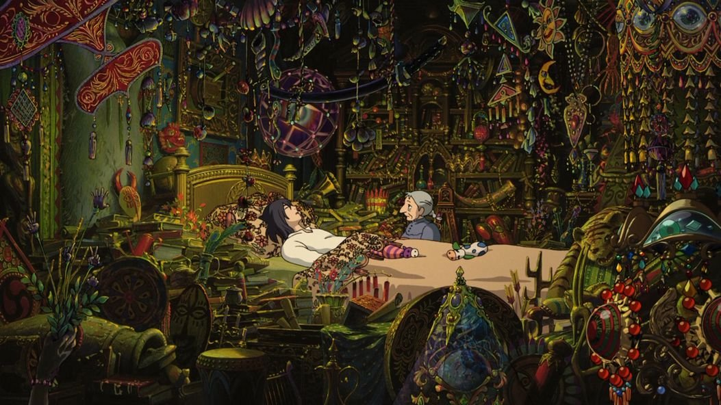 Howls Moving Castle Customized 43x24 inch Silk Print Poster/WallPaper Great Gift Wall Station