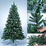 Albero artificiale di natale PREMIUM 100% in polietilene - albero di Natale appena infiammabile con aghi e punte stampati ad iniezione in PE - Dimensioni diverse da scegliere, Dimensione:180 cm