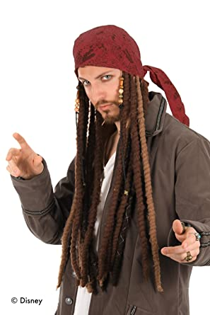amazon com elope jack sparrow costume pirate scarf with dreads