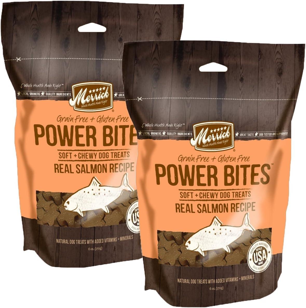 Merrick Grain Free Gluten Free Power Bites Dog Treats, 6 oz