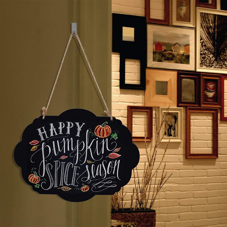 Cafe Restaurant Bar TISOSO Vintage Chalkboard Signs Chalk Message Board with Hanging String for Wedding Kids Crafts 2 Pack